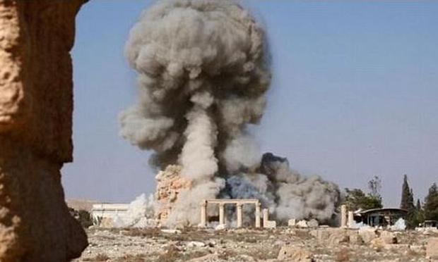 في آب 2015،أعلنت داعش عن قيامها بتدمير معبد بعل شامين في تدمر، سوريا. صورة: ريكس شترستوك