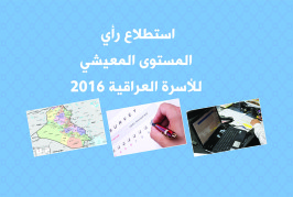 استطلاع رأي: المستوى المعيشي للأسرة العراقية 2016