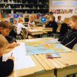 A class at the comprehensive primary school, Ilola Koulu, near Helsinki, Finland.