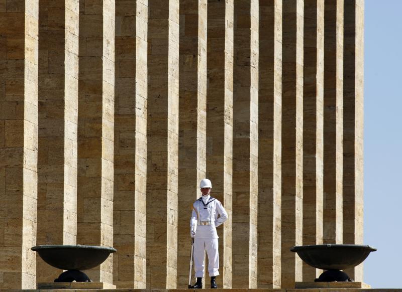 ضريح أتاتورك في أنقرة، آب 2009. أوميت/رويترز