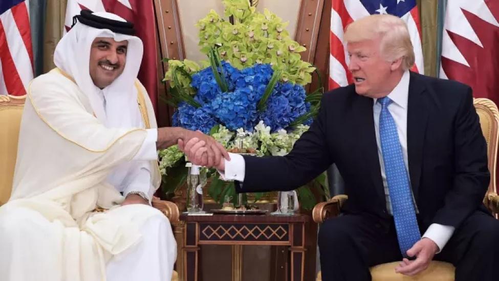 الشيخ تميم بن حمد آل ثاني يلتقي الرئيس دونالد ترامب في شهر أيار الماضي
