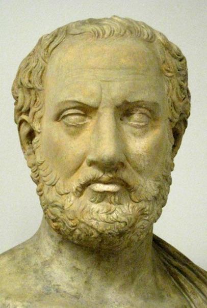 تمثال من الجص صنع في القرن الواحد والعشرين لثيوسيديدس.
